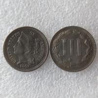 الولايات المتحدة 1879 ثلاثة سنت النيكل عملة النسخ عملات زينة المنزل الملحقات