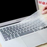 Película protectora de silicona transparente para el teclado de la UE / EE. UU. Para la membrana del teclado del ordenador portátil de Apple para Macbook Air pro 13 15 11 12 pulgadas A1843