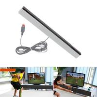 Kablolu Kızılötesi IR Ray Hareket Sensörü Bar Wii ve Wii U Konsolu için DHL FEDEX UPS EMS ÜCRETSIZ NAKLIYE