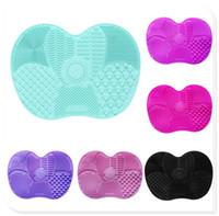 6 Kolory Silikonowe Kosmetyczne Makijaż Makijaż Mycia Żel Mata Cleaning Foundation Makeup Brush Cleaner Pad Scrubbe Board