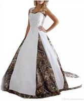 2018 новый сексуальный запас камуфляж свадебные платья с аппликациями бальное платье длинные кружева свадебное платье Свадебные платья QC1121