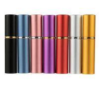 5 ml Mini Sprey Parfüm Şişesi Seyahat Doldurulabilir Boş Kozmetik Konteyner Parfüm Şişesi Atomizer Alüminyum Doldurulabilir Şişeler