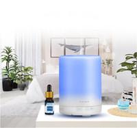 300 ml Aroma Esansiyel Yağı Difüzör Ultrasonik Hava Nemlendirici Mist Maker 7 Renk LED Işık ile Difüzif Difüzör Nemlendiriciler