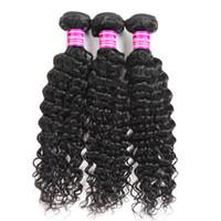 Il venditore consiglia i fornitori di capelli vergini brasiliani dell'onda profonda del tessuto dei capelli umani dei pacchi le trame per le estensioni dei capelli malesi indiani peruviani