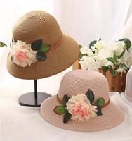 Tesa larga cappelli estivi cappelli di paglia cappelli da chiesa cappello da spiaggia floppy cappello aderente cappello a tesa larga cappello da spiaggia per donna cappellino da sole cappellino suncreen 7 colori