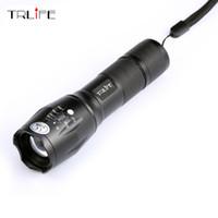 Authentisches E17 6000 Lumen 5 - Modus Cree Xm - L T6 führte Taschenlampe Zoomable Fokus-Fackel durch 1 * 18650 oder 3 * Free Verschiffen