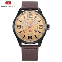 MINIFOCUS Dress Mens Leather Band Watches Fashionable Quartz...
