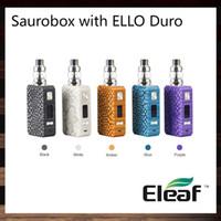 Eleaf Saurobox с ELLO Duro Kit 200 Вт Saurobox Box Mod 6,5 мл ELLO Duro танк специальный материал смолы 0,96-дюймовый TFT цветной экран 100% оригинал
