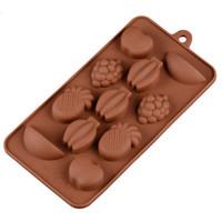 Silicone em forma de frutas de chocolate moldes de cozimento em casa ferramentas de cozimento de alta temperatura molde diy ferramenta de cozimento da cozinha