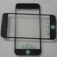 10 adet / grup Orijinal LCD Ekran Dış Ön Panel Cam Lens + Çerçeve çerçeve + OCA Filmi Soğuk Basın iPhone 7 Yenilemek için Parçaları
