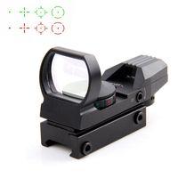 20 / 11mm Tactical Holográfica Riflescope Reflex 4 Reticle Rail Caça Óptica Ponto Verde Vermelho Vista Tactical Scope Visão com Montagem