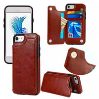 Shockproof Retro PU Leather Back Cover Wallet Case For Samsu...