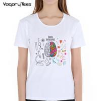 531035246a55 Geek Cerebro Camiseta Ciencia Química Biología Arte Geografía Matemáticas  Física Moda fresca Punk Camiseta Casual Estilo divertido Camisetas unisex