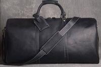 Brief Heißer Verkauf Reise Hohe Qualität Berühmte Bland Schulter Reisetasche Duffle Bag Echtes Leder Braune Mono Herren Gepäck Tasche