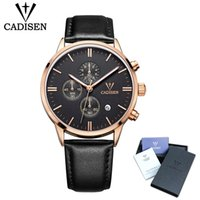 2018 New Cadisen Mens Watches Top Brand Luxury Chronograph L...