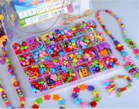 혼합 600PCS DIY의 느슨한 아크릴 비즈 키즈 소녀 액세서리 목걸이 팔찌 팔찌 DIY의 비드 건물 키트 교육 발달 장난감