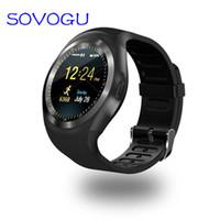 SOVO بلوتوث Y1 الذكية ووتش relogio الروبوت smartwatch الهاتف دعوة SIM TF كاميرا