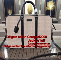 3 color top quality business briefcase tote mens bag with st...