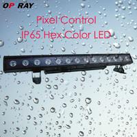 LED 14pcs x 30W RGBWA 5in1 Pixel Control wall washer IP65 backgroud backgroud extérieur LED Effet de lumière DMX 24/10/80/70 canaux