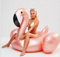 150CM riesige aufblasbare Flamingo-Pool-Spielzeug Floats Aufblasbare Rose Nette Aufsitz-Lache-Schwimmen-Ring für Wasser Ferien-Spaß-Party