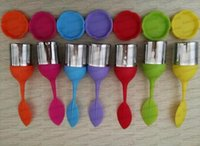 Silicon Tea Infuser Leaf Handle Stainless Steel Strainer Inf...