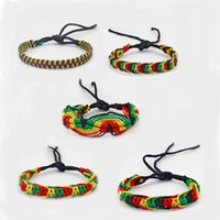5pcs Mixed Rasta Friendship Bracelet WRISTBAND Cotton Silk Reggae Jamaica Surfer Boho Fine Jewelry