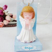 FEIS All'ingrosso Angel Wedding E Candele di compleanno Little angel Smokeless candle Candele di alta qualità per matrimoni Birthday Cake Candle (boy, girl)