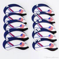 США флаг гольф железный клуб головной убор 10 шт. / Компл.
