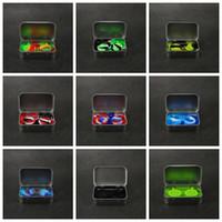 1pin 틴 실리콘 스토리지 키트 세트 2pcs 5ml 실리콘 왁 스 컨테이너 석유 항아리 기본 실버 Dab Dabber 도구 금속 상자 케이스 휴대용 VAPE