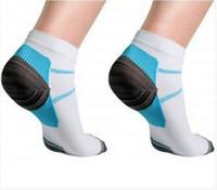 Unisex Bay Bayan Sıkıştırma Çorap Erkekler Anti-Yorgunluk Plantar Fasiit Topuk Spurs Ağrı Sport Kısa Bilek Sock Running