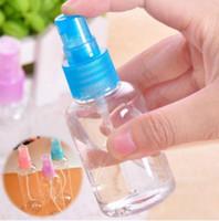 100ML السفر شفافة صغيرة فارغة البلاستيك العطور البخاخة رذاذ زجاجة المكياج أداة اللون إرسال عشوائيا