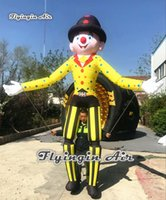 Parade Performance Walking Inflatable Clown Marionette Puppet 3.5m Funny Blow Up Clown Costume For Circus Show