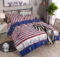 AB Side Quilt Comforter Pillow Duvet Cover 4 pcs Bedding Set...