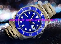 Luxury Watches Stainless Steel Bracelet BLUE Dial CERAMIC BE...
