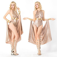 Costume de thème Costumes de haute qualité Costumes Cleopatra Sexy Queen Vêtements Grecque Greedess Fête Cosplay Robe Athena Halloween pour femmes