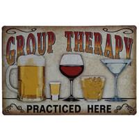 20 * 30 cm style nostalgique Beer Sheet Vintage fer Tin Sign Mur Plaque Club Pub Bar Affiche suspendus Art artisanat Retro Decor Peinture