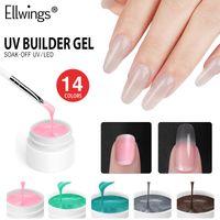 Ellwings UV Builder Gel Extension per unghie Quick Building Nail Varnish Soak Off Gel UV per Art Manicure Polish