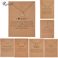 RINHOO Fashion Gold Color Necklace I love You Balance Grazie Star Collane Collana pendente gioielli vintage per donna Amico