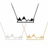 Золото Серебро Горный Топ Ожерелье Снежные Горы Ожерелье Лакомство Туризм Природа Открытый Ювелирные Изделия Альпинизм Подарки