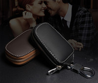 Genuine Leather Car Key Wallets Men Key Holder Housekeeper K...