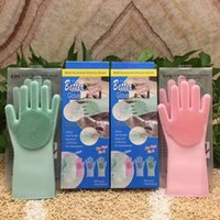magic silicone dishwashing gloves with Wash Scrubber (13. 6&q...