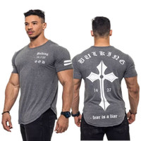 2018 Summer New Arrival Bodybuilding Fitness Mens Short Slee...