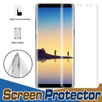 3D Tam Kapsama Kavisli Ekran Koruyucu Tam Kapak Yumuşak TPU temizle Film Gurad Samsung S6 Artı Not Kenar C5 C7 C9 Pro J5 J7 Başbakan A9