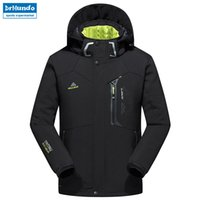 New Winter Men soft shell hiking jacket ski waterproof jacke...
