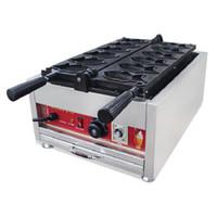 BEIJAMEI Elektrik Taiyaki satışı yapma makinesi makine ticari Taiyaki waffle makinesi makine Balık kek yapma