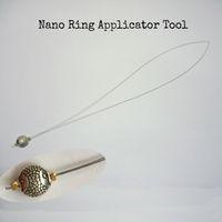 10 unités Nano Ring Threader / Anneau de nano de traction Outils / Stainles applicateurs de cheveux pour la fusion