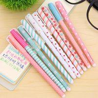 10 Pz / lotto Colore Penna Gel Kawaii Cancelleria Fiore Coreano Canetas Escolar Papelaria Regalo Materiale scolastico Materiale per ufficio