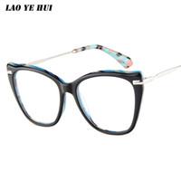 f5aeffab1c704 LAO YE HUI Liga Óptica Óculos de Armação Mulheres Retro Miopia Prescrição  Óculos de Armação de Óculos Da Marca Designer LAO-6814