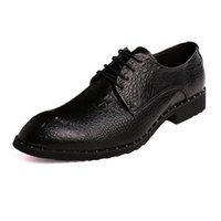 Luxury Brush Leather Men Shoes Crocodile Pattern Casual Flat...
