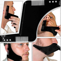 New Double- side Beard Shaping Styling Template Beard Comb Me...